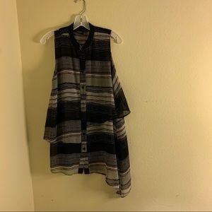 ICHI assymetrical dress